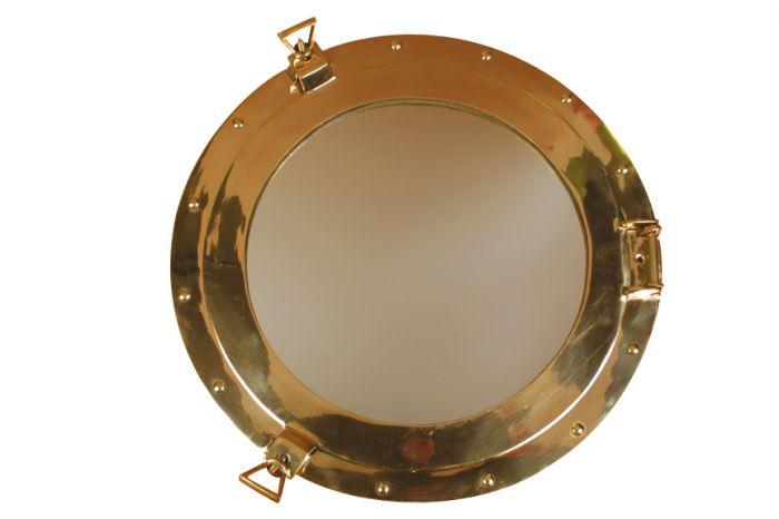 Hublot miroir laiton poli for Miroir laiton
