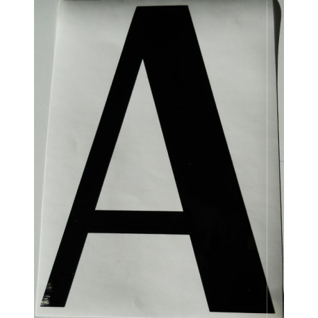 Lettre ou chiffre autocollante