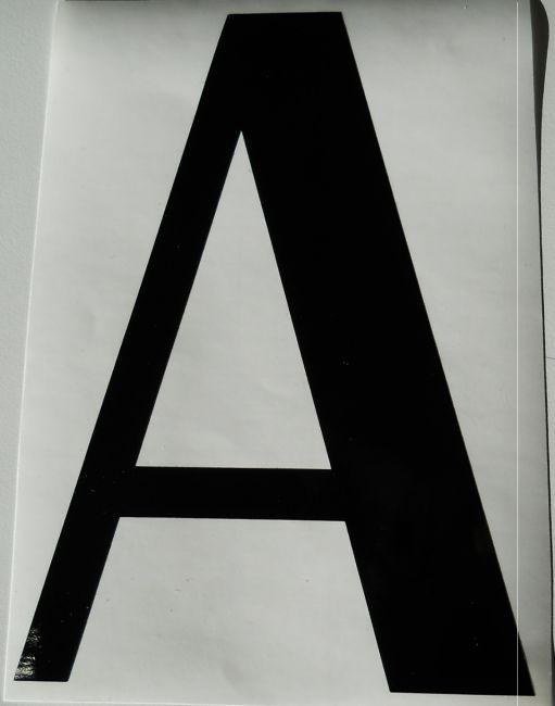 Shirtstown Num/éro de Maison Autocollant Auto-Adh/ésif Lettres de A-Z Hauteur 4 cm-15 CM