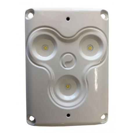 Plafonnier 3 LEDS 12/24 volts