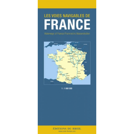 Carte des voies navigables de France