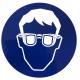 Autocollant port de lunette de protection