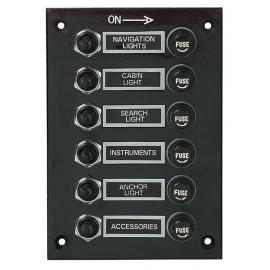 Tableau électrique 6 contacteurs étanche