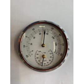 thermo hygro en chrome 95 mm