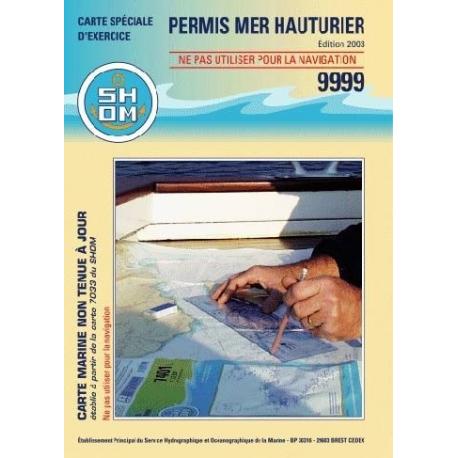 La carte marine d'examen hauturier 9999