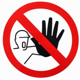 Autocollant entrée interdite aux personnes non autorisées