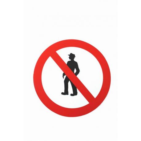 Autocollant interdit au piéton