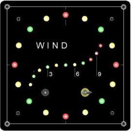 Indicateur de direction du vent et anémomètre 10+ beaufort