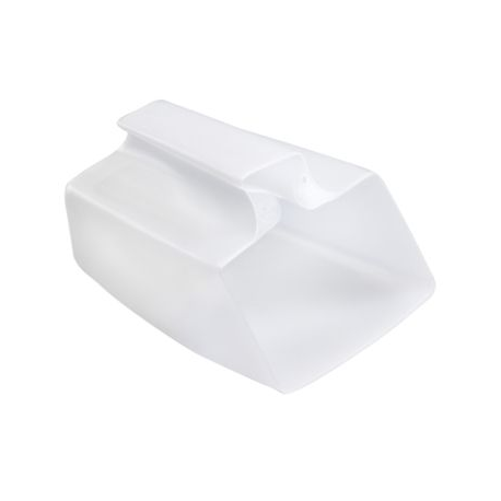 Écope plastique translucide