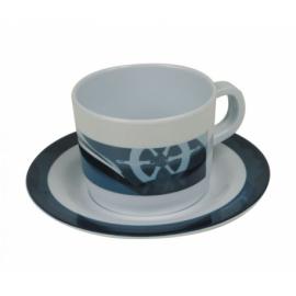 Tasse à café + sous tasse en mélamine