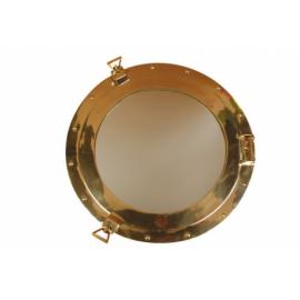 Hublot miroir laiton poli