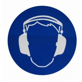 Autocollant portez un casque anti bruit