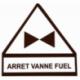 Autocollant arret fuel