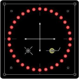 Indicateur d'angle 360° pour propulseur