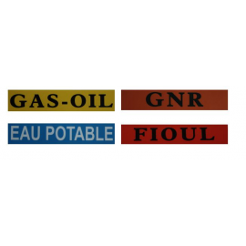 Autocollants : GNR ou gas-oil ou eau potable ou fioul