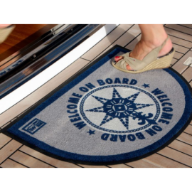 Lot de 2 tapis anti dérapant WELCOME ON BOARD