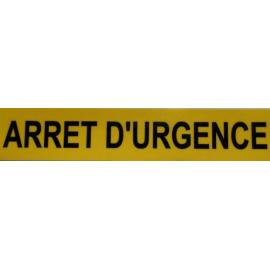 Autocollant arrêt d'urgence