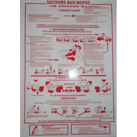 Plaque de secours aux noyés