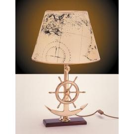 Lampe de table ancre et barre à roue