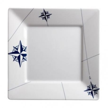 Assiette plate carrée mélamine