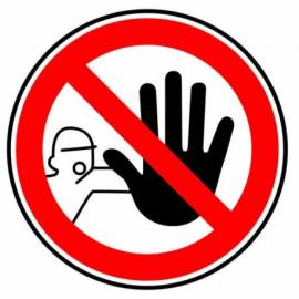 Autocollant interdiction d'entrer